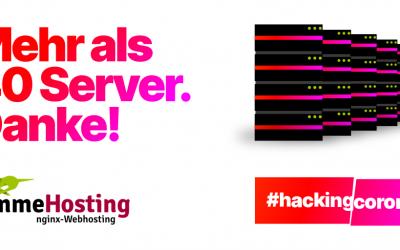 Timme-Hosting rechnet für #HackingCorona