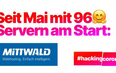 Mittwald rechnet mit #HackingCorona gegen Covid-19
